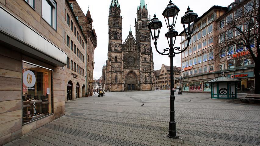 Nürnberg , am 21.03.2020..Ressort: Lokales Foto: Michael Matejka.., Corona..Nürnberger Innenstadt: Wie sieht es hier in Sachen Ausganssperre aus?