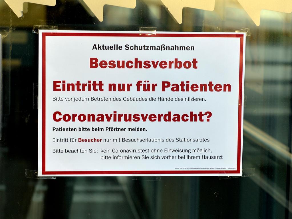 Corona-Shutdown, Tag 10: Für die Kliniken gelten weiterhin Besuchs- und Betretungsverbote .