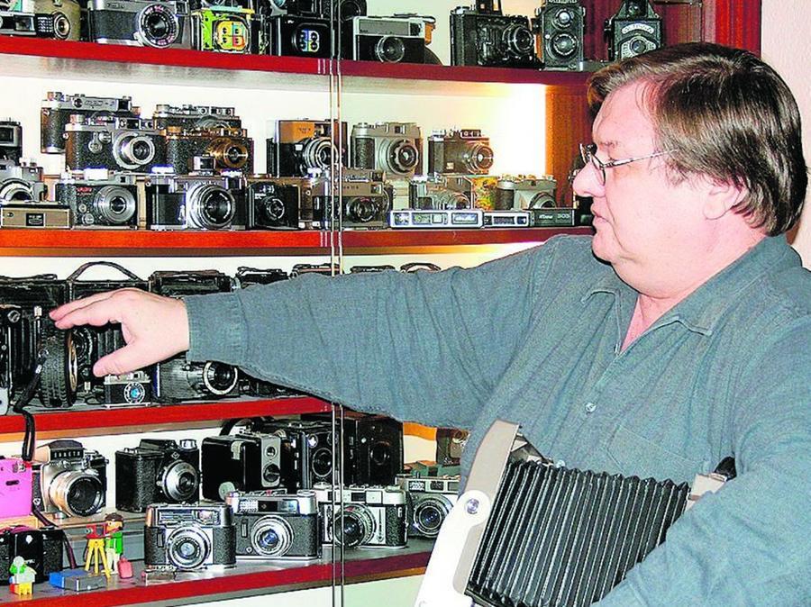 Das Kameramuseum findet Platz in der Volksschule in Plech.