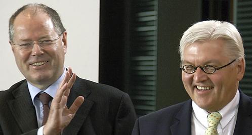 Einer der beiden SPD-Stones könnte Kanzlerkandidat werden: Peer Steinbrück (links) und Frank-Walter Steinmeier.