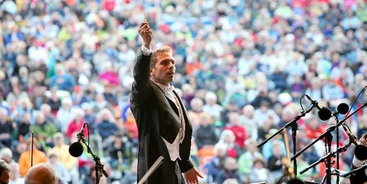 Die Philharmoniker wollen 2012 im Luitpoldhain die Emotionen wecken.