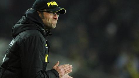 An die Duelle mit der Spielvereinigung hat er keine guten Erinnerungen: Jürgen Klopp konnte als Trainer bislang noch nie gegen Fürth gewinnen.