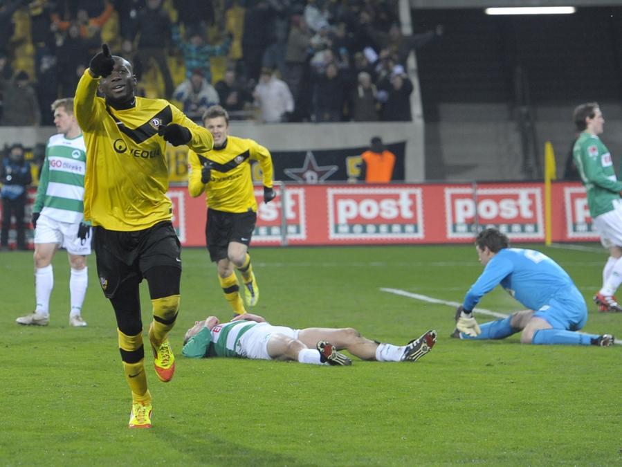 Anfang Februar jubelte Mickael Poté noch über einen Treffer gegen die Spielvereinigung, ab der kommenden Saison spielt er vielleicht im Trikot der Fürther.