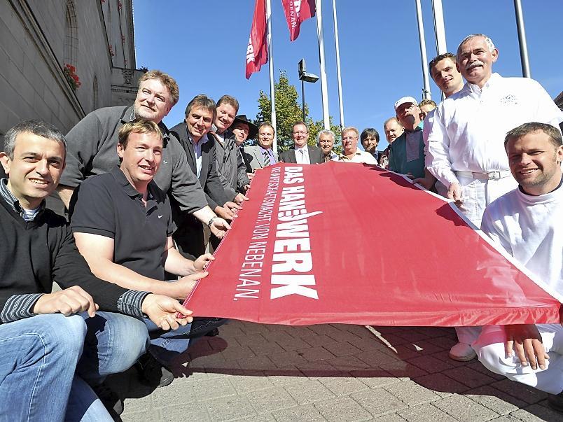 Eine der Aktionen unter Federführung der KHS: Mit einer PR-Aktion wirbt  das Handwerk, wie hier in Fürth, für sich.