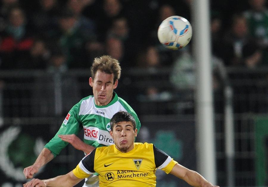 Kleeblatt-Spieler Thomas Kleine will auch gegen Dortmund gewinnen und zum Finale nach Berlin fahren.
