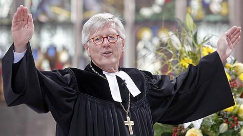 Heinrich Bedford-Strohm — hier nach seiner feierlichen Amtseinführung vor gut einem halben Jahr in der Nürnberger Lorenzkirche — ermutigt die Protestanten, Andersgläubigen ohne Vorbehalte zu begegnen.
