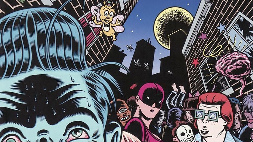 """Gesellschaft im Zerrspiegel: Für Iggy Pops Album """"Brick by Brick"""" (1990) hat Charles Burns das LP- bzw. CD-Cover entworfen (Ausschnitt). Dem amerikanischen Zeichner ist im Rahmen des Comic-Salons eine Ausstellung im Erlanger Altstadtmarkt gewidmet, die er persönlich besuchen wird."""