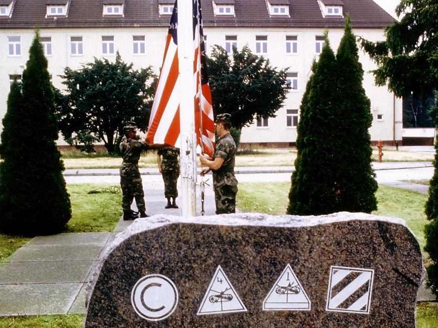 """Bis 1994 wohnten die US-Streikräfte in den """"Ferris-Barracks""""."""