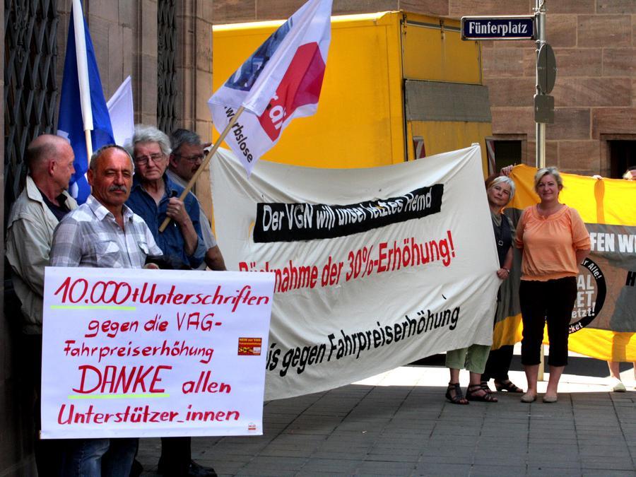 Die Proteste halfen nicht: Der Nürnberger Stadtrat stimmte für eine Fahrpreiserhöhung.