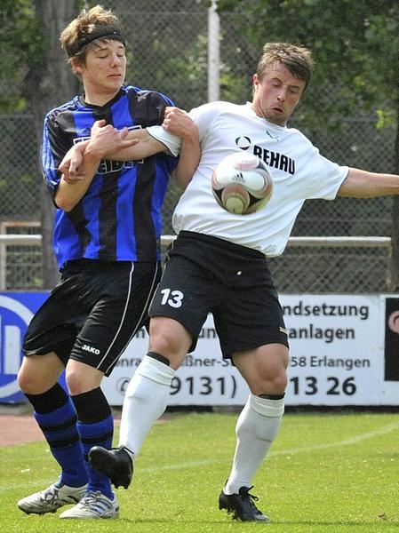 Verstärkung für die kommende Saison: Kuno Kessler (hier im hellen Trikot in einem Spiel gegen die SpVgg Weiden II) kommt vom SC Eltersdorf.