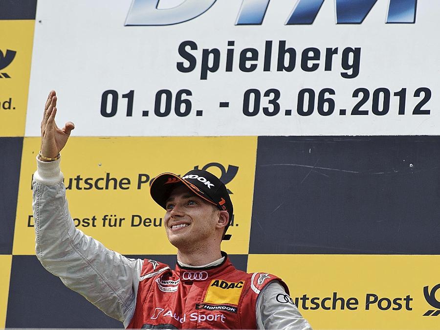 Gruß nach Nürnberg: Der 25 Jahre alte Edoardo Mortara durfte in Spielberg in der Steiermark seinen ersten DTM-Sieg feiern.
