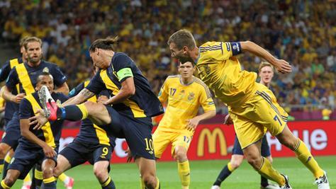 Nichts verlernt: Zlatan Ibrahimovic und Andrij Schewtschenko.