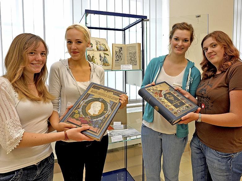 Die Ohm-Schülerinnen Selina Hammer, Elena Rohn, Anne Höhne und Sandra Krönert (v.l.).
