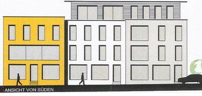 Die Bosch & Co Gmb H will das Degenhart-Gelände und das benachbarte Grundstück in der Hensoltstraße neu bebauen. Das Kleinlellenfelder Unternehmen stellt sich eine moderne Fassadengestaltung vor.