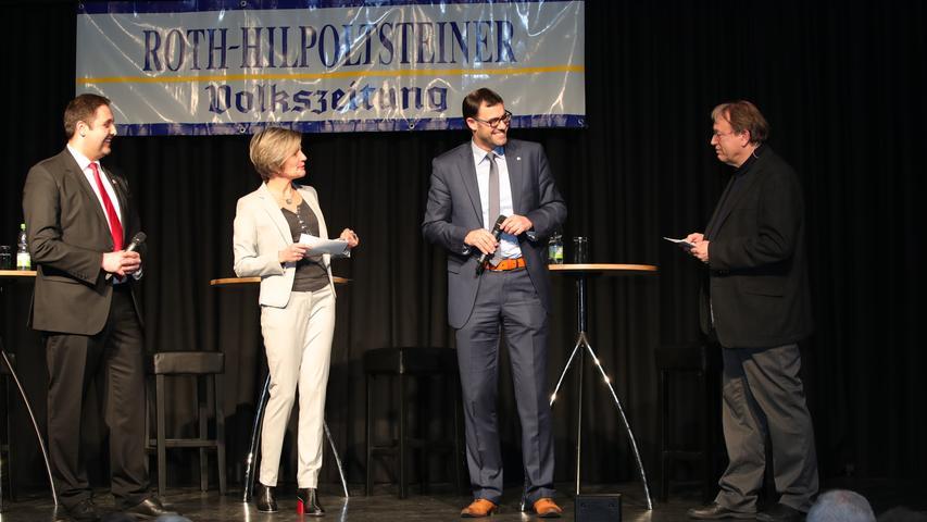 Andreas Buckreus (links) und Ralph Edelhäußer (3. von links) stellten sich den Fragen der RHV-Redakteure Carola Scherbel und Detlef Gsänger.