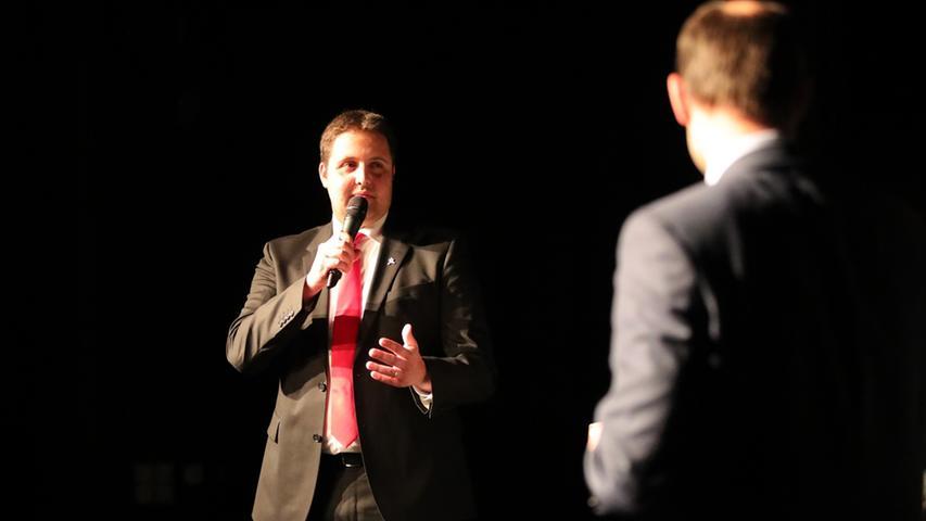 Andreas Buckreus (li.) und Ralph Edelhäußer bei der RHV-Podiumsdiskussion.