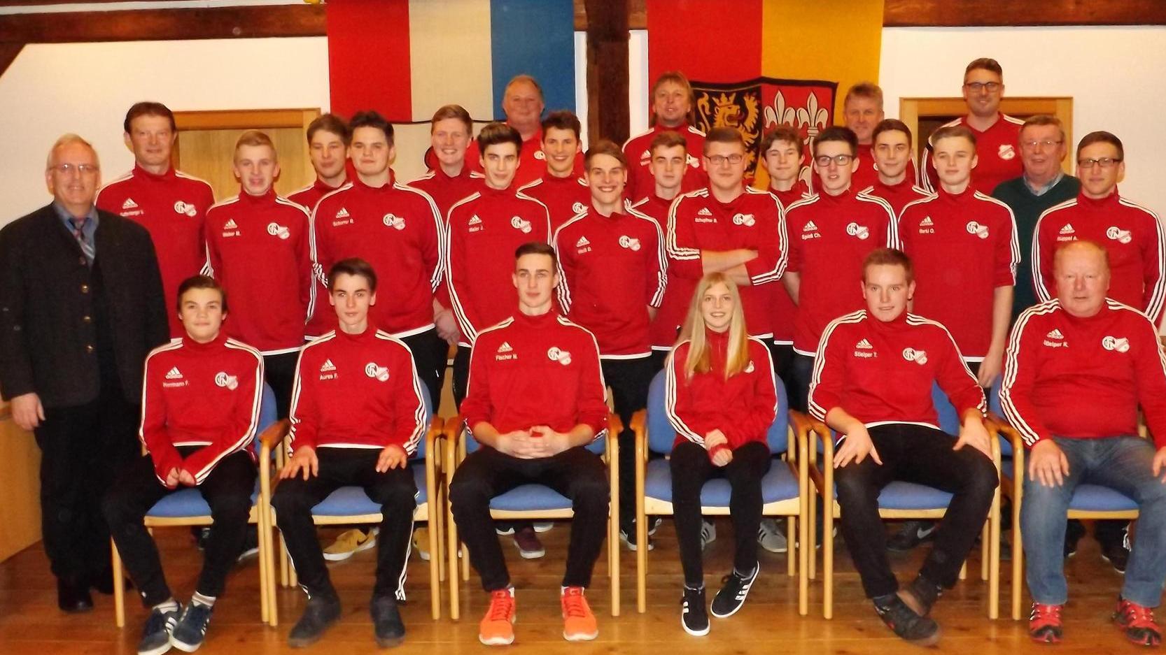 Für die Eintragung der B-Jugend der SG Königstein-Neukirchen gab es einen Empfang im Königsteiner Rathaus