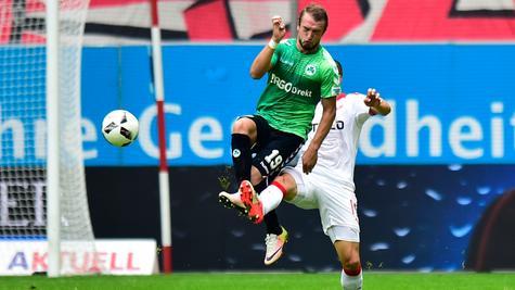Veton Berisha kann gegen Düsseldorf vermutlich wieder auflaufen.