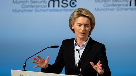 Bundesverteidigungsministerin Ursula von der Leyen (CDU) mahnte die Trump-Regierung bei der Münchner Sicherheitskonferenz zu mehr Kooperation und warnte vor Alleingängen.