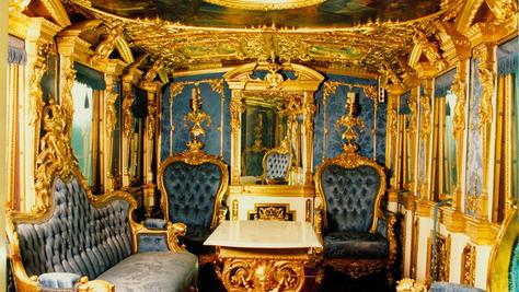 So feudal reiste König Ludwig anno 1866 in seinem Hofzug durch Franken.