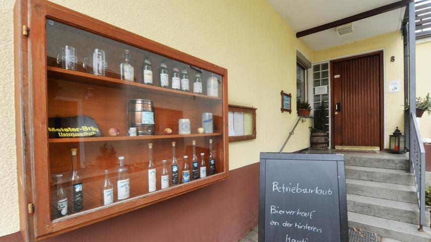Das Brauerei Meister in Unterzaunsbach mit dazugehörigem Gasthaus, das vorerst geschlossen hat.