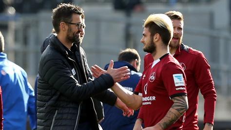 """""""Ich bin froh, dass wir drei Neuner haben"""", erklärt Club-Coach Michael Köllner und meint damit auch Dominic Baumannn."""