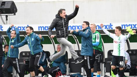 Jump around: Unter Janos Radoki hat das Kleeblatt in der Rückrunde erfolgreich zu einem Luftsprüngen angesetzt.