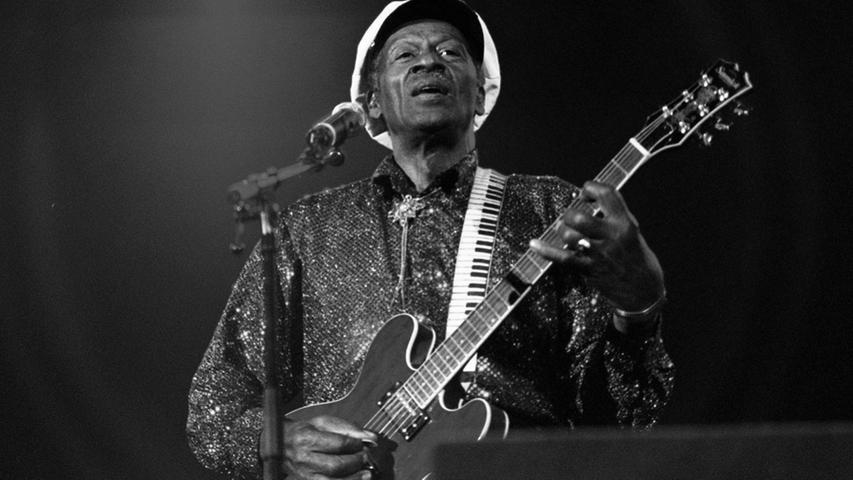 """Für viele Musikfans war er der eigentliche """"King of Rock´n Roll"""": Chuck Berry starb im Alter von 90 Jahren."""