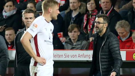 """""""Über weite Strecken der Partie haben wir es sehr gut gemacht"""", sagt Nürnbergs Interimscoach Michael Köllner. Am Ende stand sein Club in Berlin dennoch mit leeren Händen da."""