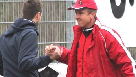 """""""Ich freue mich riesig auf die Aufgabe"""": Martin Huber (rechts), der neue Trainer der Dittenheimer in der Saison 2017/18."""