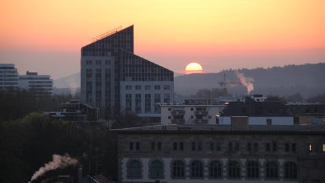 Die Sonne geht über Franken auf, es wird warm und frühlingshaft.