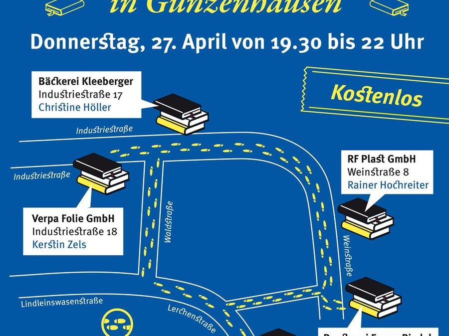 Beim Literarischen Spaziergang wird im Gunzenhäuser Industriegebiet an fünf verschiedenen Standorten gelesen.