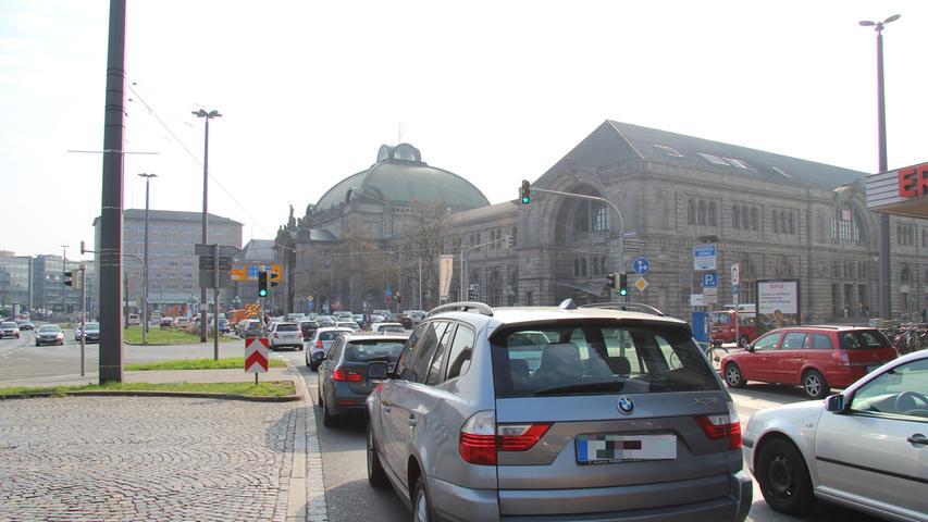 Kein Durchkommen: Nürnberg droht der Verkehrskollaps.