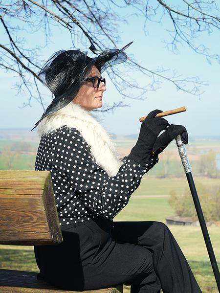 Die alte Dame auf Besuch in Pfofeld.