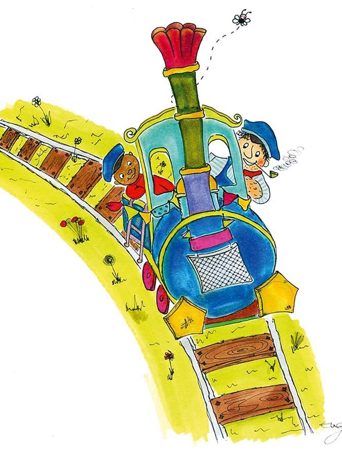 Per Express nach Lummerland: Jim Knopf und sein väterlicher Freund Lukas erleben spannende Reisen und Abenteuer mit ihrer Lokomotive Emma.