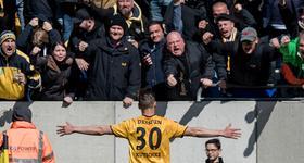 Club-Leihgabe Stefan Kutschke knipste für Dynamo Dresden erneut: Mit seinem 16. Saisontor rettete er Dynamo Dresden den Punkt gegen Düsseldorf.