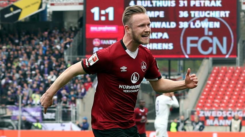16. Einwechslung, zweites Tor: Junioren-Nationalspieler Cedric Teuchert kann für den 1. FC Nürnberg noch sehr wichtig werden – dafür müsste er aber zuerst mal über einen längeren Zeitraum gesund bleiben.