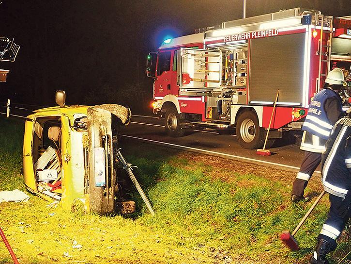 Mittelschwere Verletzungen hat sich ein 64-jäh- riger Gunzenhausener bei einem Verkehrsunfall auf der Staatsstraße 2222 zwischen Ramsberg und St. Veit zugezogen.