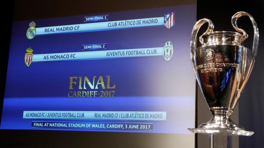 Real oder Altetico? Monaco oder Juve? Wer schafft es ins Champions-League-Finale nach Cardiff im Juni?