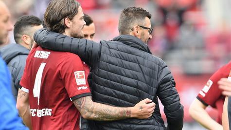 Endlich wieder Gute-Laune-Club: Nach dem Sieg gegen Erzgebirge Aue war die Stimmung beim FCN wieder lockerer als zuvor.