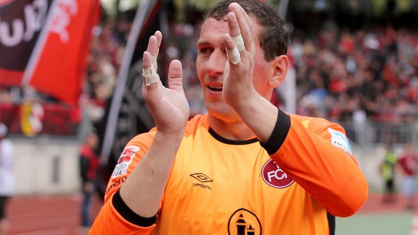 Stand heute das letzte Mal im Nürnberger Stadion zwischen den Pfosten: Club-Keeper Raphael Schäfer.