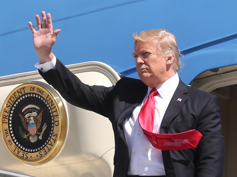 Trump in Riad zu erstem Auslandsbesuch als US-Präsident gelandet