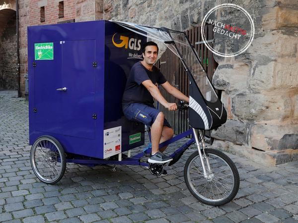 GLS und DPD testen derzeit in Nürnberg die Paketzustellung mittels Lastenräder.