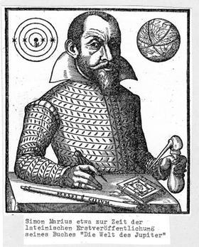 Der »vergessene Astronom»: Die Zeichnung zeigt Simon Marius ungefähr im Alter von 40 Jahren. Es ist in etwa die Zeit, in der er im Werk »Mundus Iovialis» seine Beobachtung der Jupitermonde beschreibt. »Eine äußerst gründliche Arbeitsweise» bescheinigen ihm seine Anhänger.