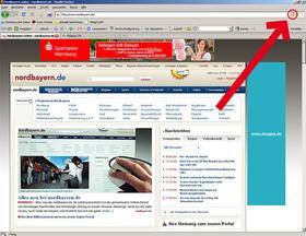 """So zeigt der Browser """"Firefox"""" das RSS-Symbol an."""