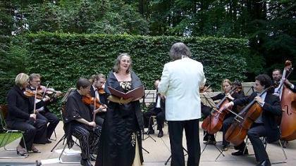Der Schlosspark in Unterleinleiter ist als Konzertbühne seit Jahren sehr beliebt.