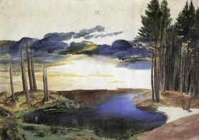 """""""Weiher im Wald"""":  Als 25-Jähriger malte Dürer das Aquarell, das im British Museum in London verwahrt wird."""